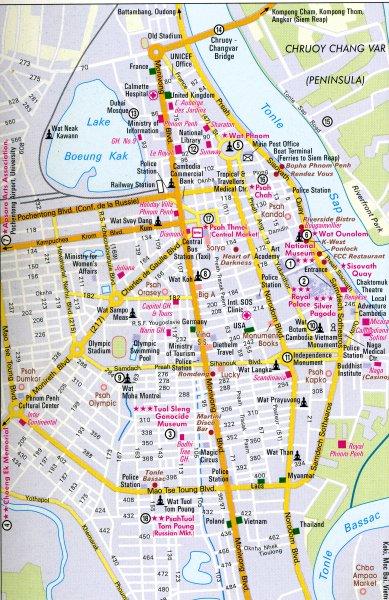 Plan De La Ville De Phnom Pen
